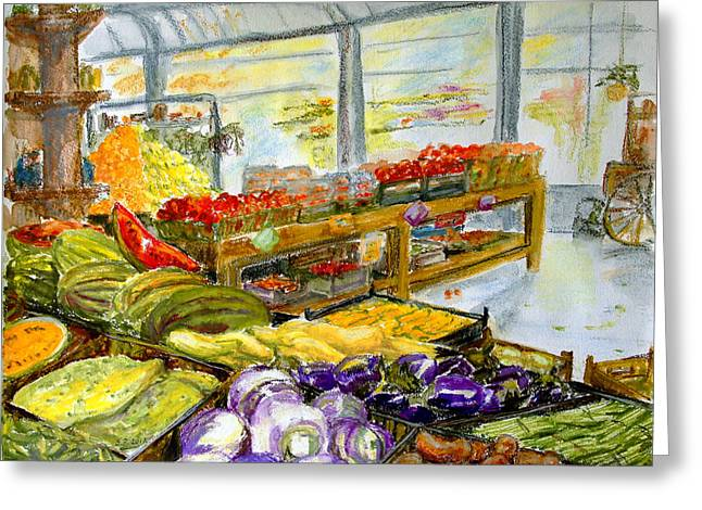Farmer's Market In Fort Worth Texas Greeting Card by Barbara Pommerenke