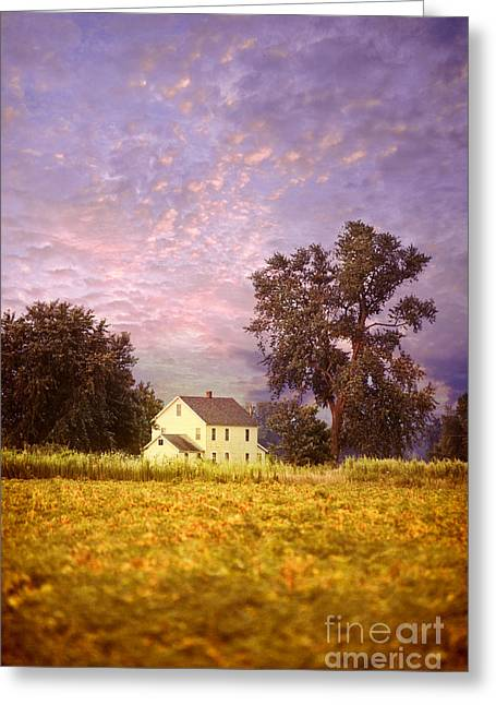 Farmhouse Greeting Cards - Farmhouse Greeting Card by HD Connelly
