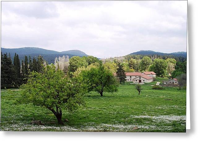 Farmhouses Greeting Card by Constantinos Charalampopoulos