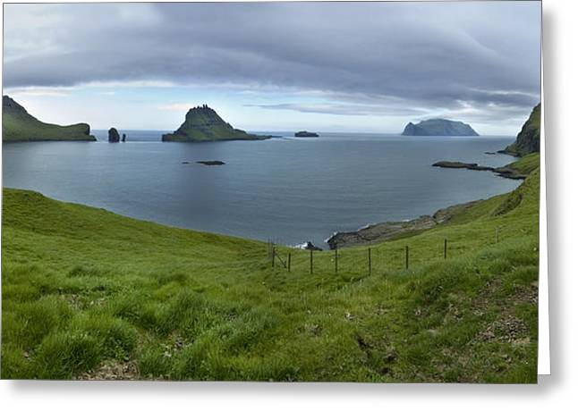 Faro Greeting Cards - Faroes Panorama Greeting Card by Robert Lacy