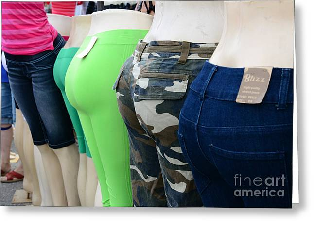 Posterior. Greeting Cards - Fashion - Baby got back -  pants Greeting Card by Paul Ward