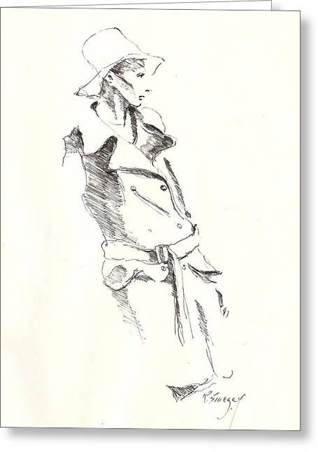 R Allen Swezey Greeting Cards - Fashion 1965 one Greeting Card by R  Allen Swezey