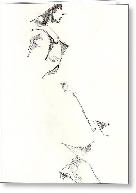 R Allen Swezey Greeting Cards - Fashion 1965 three Greeting Card by R  Allen Swezey