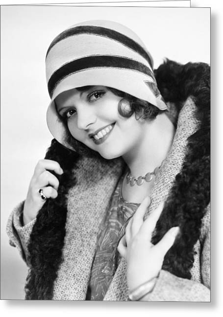Starlet Greeting Cards - Fashion: Cloche Hat, 1929 Greeting Card by Granger