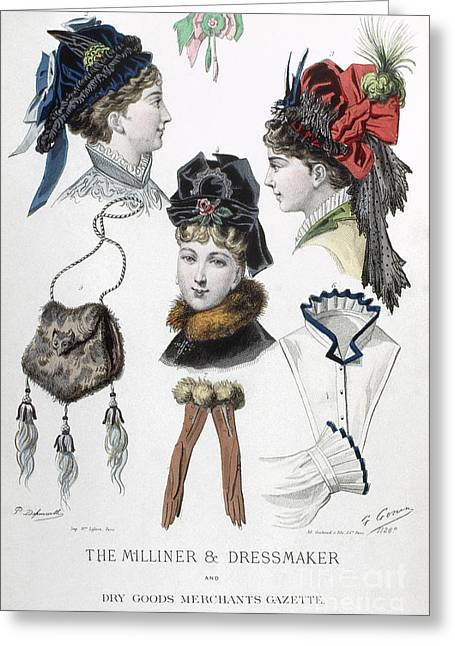 Fashion: Hats, C1875 Greeting Card by Granger