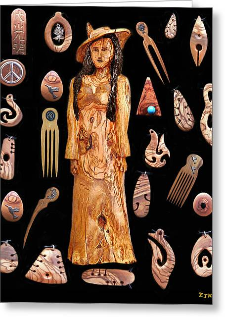 Greek Sculpture Mixed Media Greeting Cards - Fashion Jewellery tour Greeting Card by Eric Kempson
