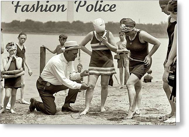 Fashion Police 1922 Greeting Card by Padre Art