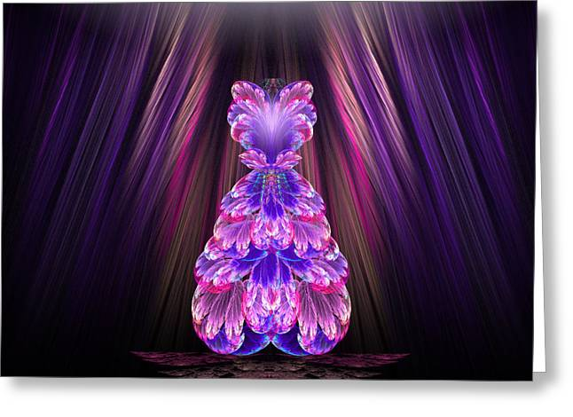Karlajkitty Digital Art Greeting Cards - Fashion Show Greeting Card by Karla White