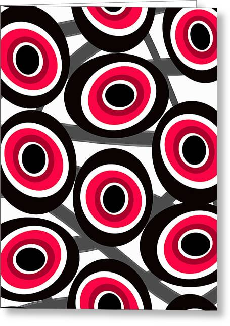 Fashion Designer Abstract Art Greeting Cards - Fashion Spots  Greeting Card by Louisa Knight