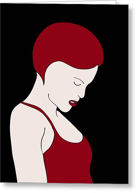 Abstract Fashion Designers Greeting Cards - Fashion Wall Art Greeting Card by Frank Tschakert