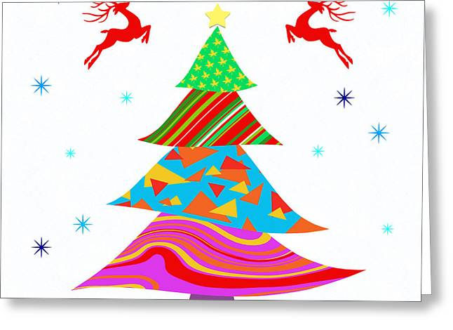 Christmas Art Greeting Cards - Fashion Xmas Greeting Card by Atiketta Sangasaeng
