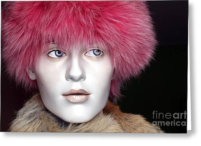 Pink Cheeks Greeting Cards - Fashionista Greeting Card by Sophie Vigneault