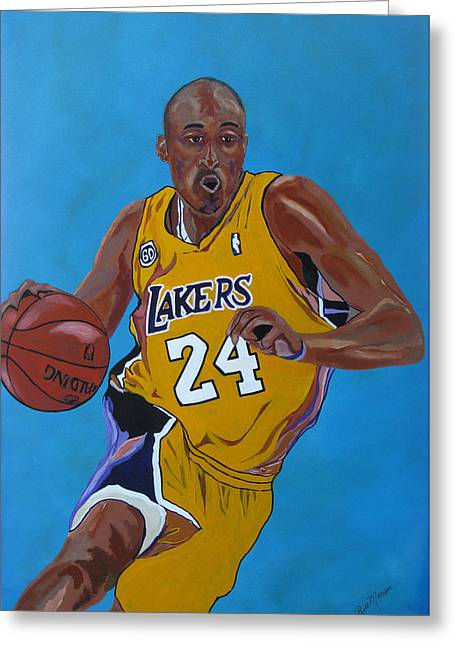 Bryant Paintings Greeting Cards - Fast Break Greeting Card by Bill Manson