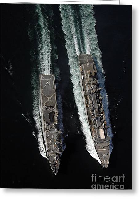 Boats At Dock Greeting Cards - Fast Combat Logistic Support Ship Usns Greeting Card by Stocktrek Images