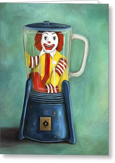 Fast Food Nightmare 2 The Happy Meal Greeting Card by Leah Saulnier The Painting Maniac
