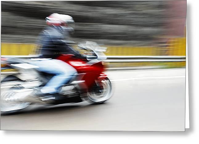 Fast Superbike India Greeting Card by Kantilal Patel