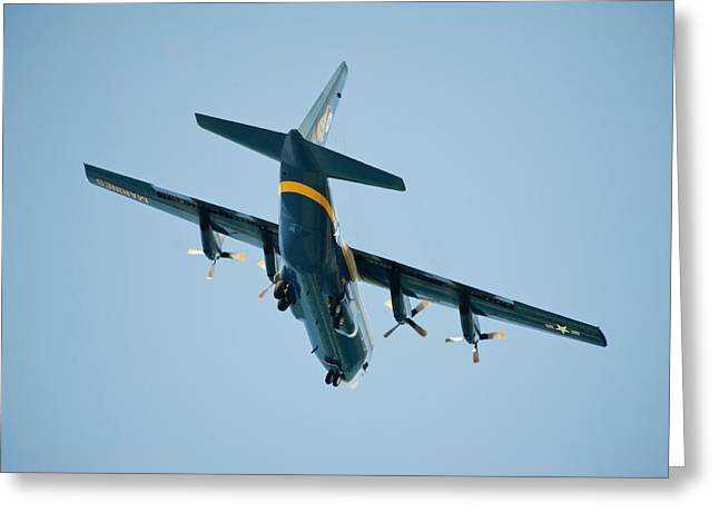 Usmc Base Greeting Cards - Fat Albert flies low over our lanai Greeting Card by Dan McManus