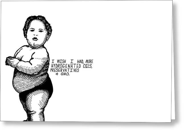 Over Sized Greeting Cards - Fat Baby Greeting Card by Karl Addison