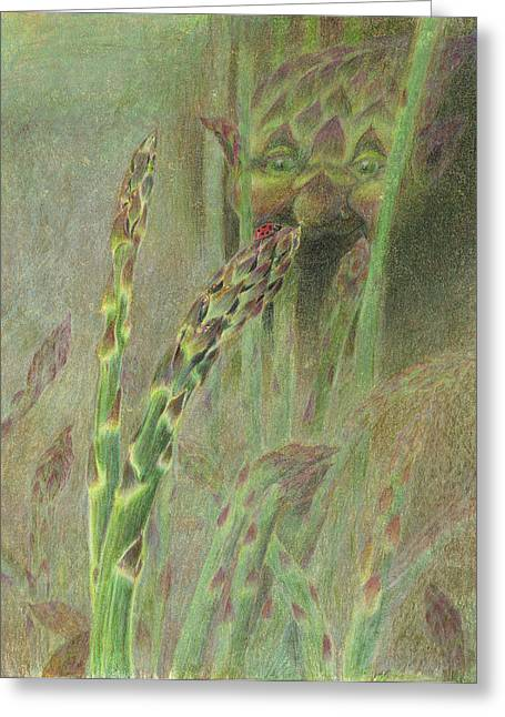 Best Sellers -  - Observer Greeting Cards - Fat Grass Delight Greeting Card by Bon Vernarelli