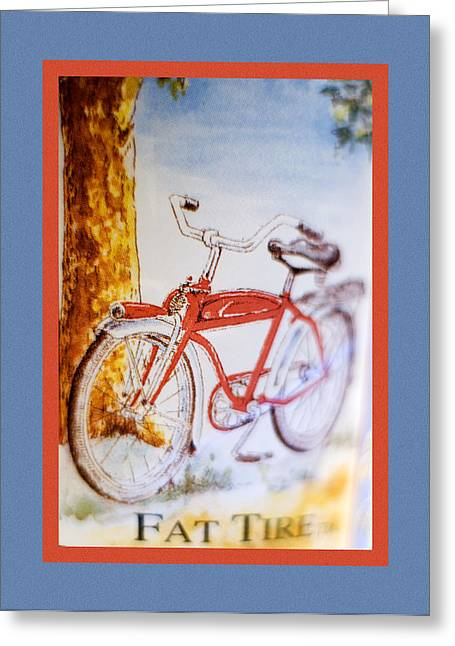 Fat Greeting Cards - Fat Tire Ale Greeting Card by Carol Leigh