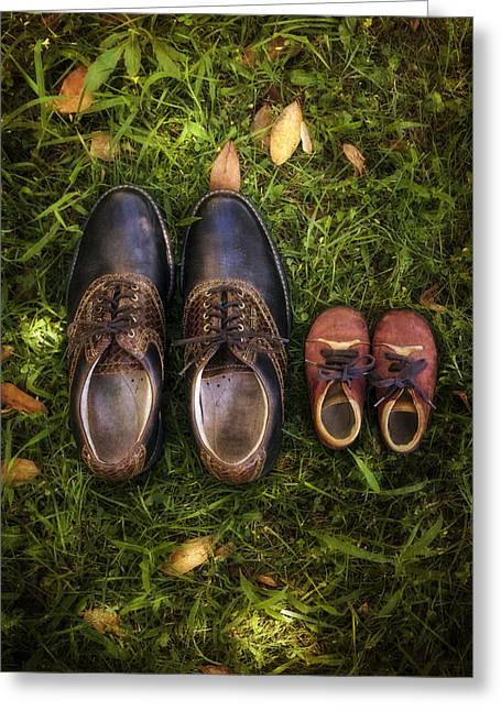 Men Shoes Greeting Cards - Father And Child Greeting Card by Joana Kruse