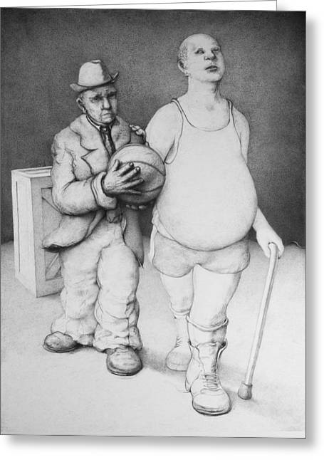 High Top Tennis Shoes Greeting Cards - Father and Son Greeting Card by Louis Gleason