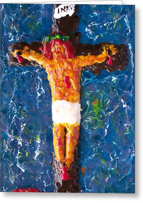 Christ Reliefs Greeting Cards - Father  Forgive  Them Greeting Card by Carl Deaville