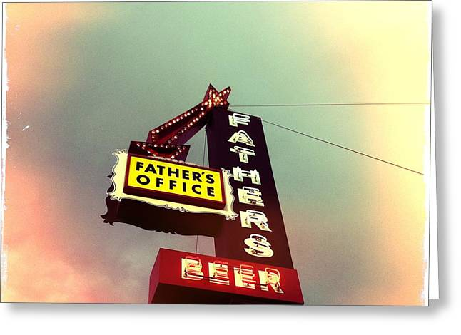 Father's Office Beer Greeting Card by Nina Prommer