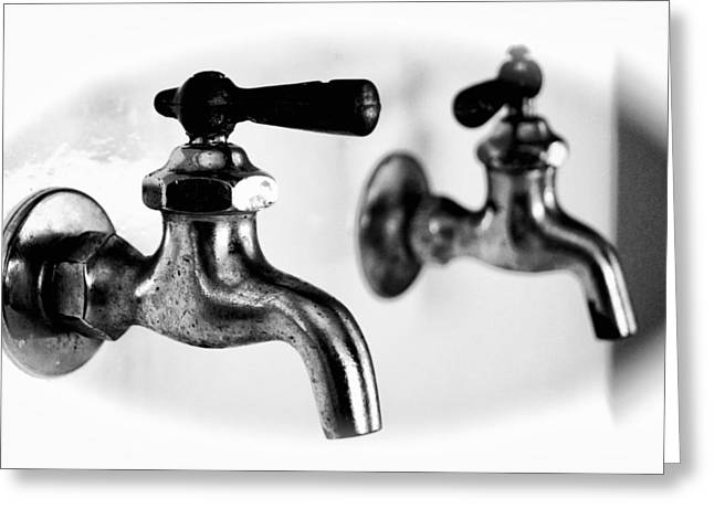 Faucet Greeting Cards - Faucet Greeting Card by Dieter  Lesche
