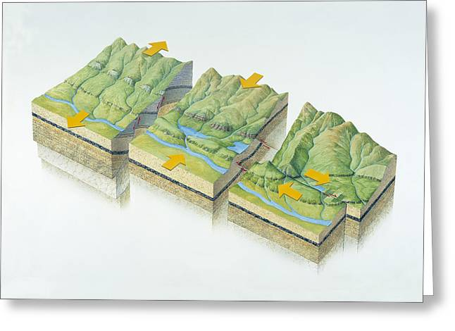 Fault Greeting Cards - Fault Types Greeting Card by Gary Hincks