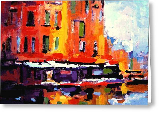 Chromatic Paintings Greeting Cards - Fauvo Porto Greeting Card by R W Goetting