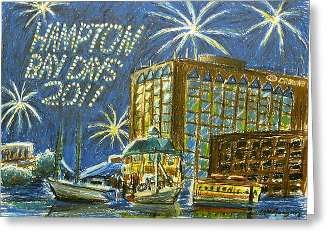 Fireworks Pastels Greeting Cards - Favorite Moments Greeting Card by Michael Morgan