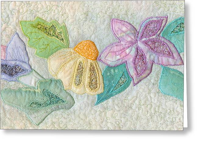 Nature Abstract Tapestries - Textiles Greeting Cards - Favourite Lacy Blooms Greeting Card by Denise Hoag