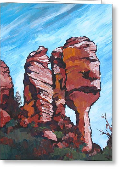 Monolith Greeting Cards - Fay Canyon Greeting Card by Sandy Tracey