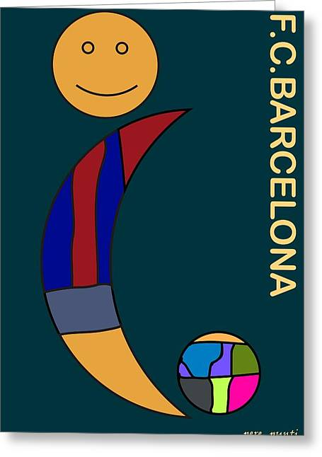 F.c.barcelona V.8 Greeting Card by Pere Punti