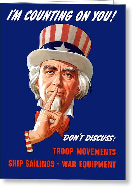 Franklin Digital Art Greeting Cards - FDR As Uncle Sam Greeting Card by War Is Hell Store