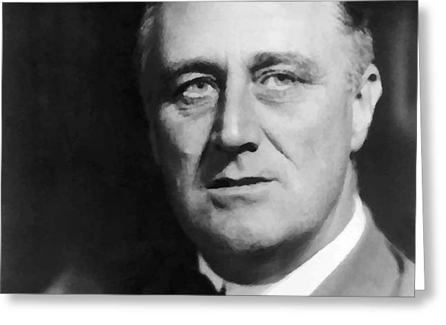 FDR Greeting Card by War Is Hell Store