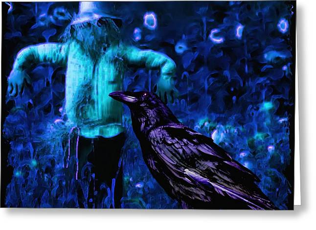 Ravens Greeting Cards - Fear Not Greeting Card by Tisha McGee