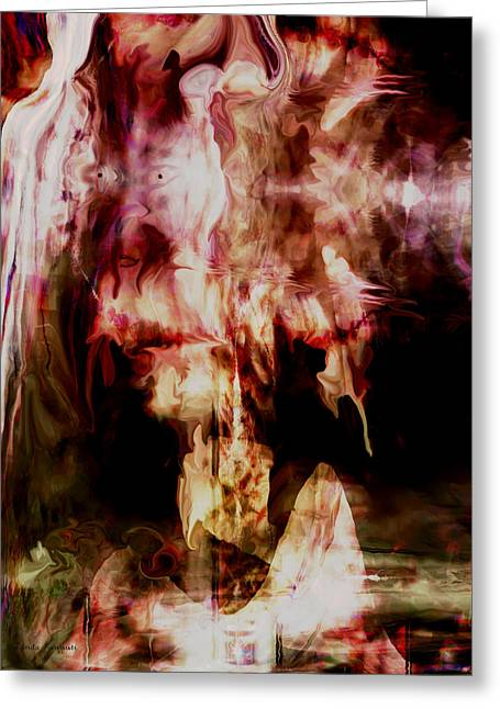 Digital Expresssions Greeting Cards - Fear of Darkness Greeting Card by Linda Sannuti