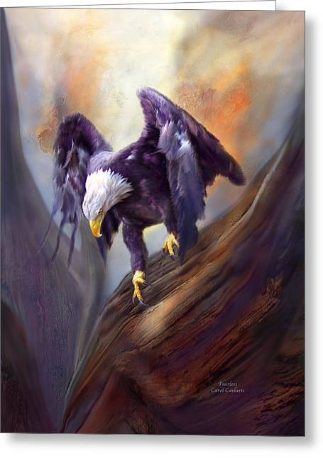 Wildlife Art Greeting Cards Greeting Cards - Fearless Greeting Card by Carol Cavalaris