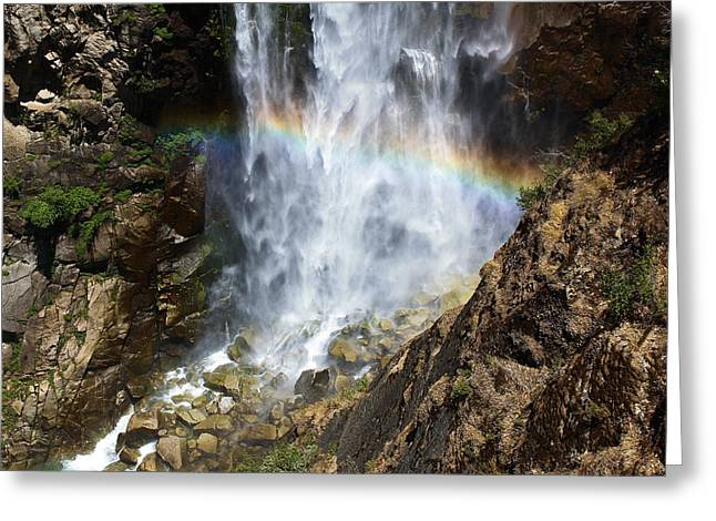 Canyon Country Greeting Cards - Feather Falls Greeting Card by Karen M Scovill