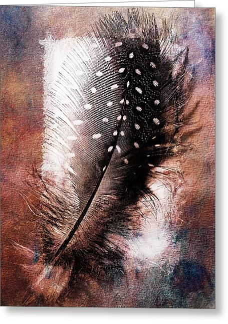 Computer Art Pyrography Greeting Cards - Feather Greeting Card by Mauro Celotti
