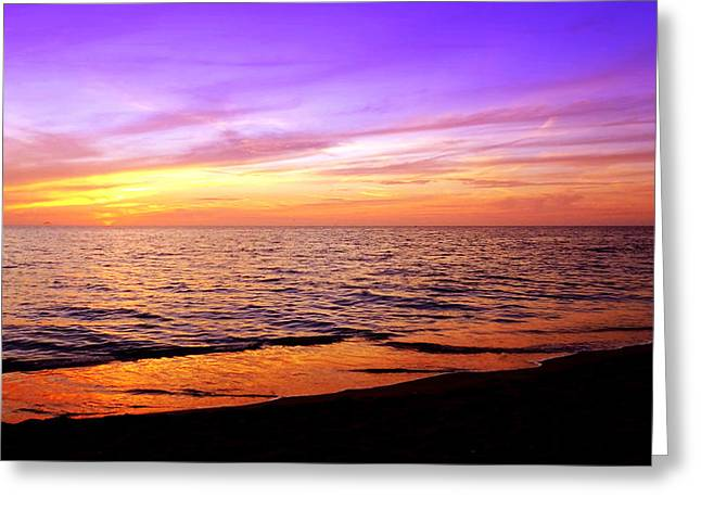 Ocean Art Photography Greeting Cards - February Sunset Greeting Card by Jeremy Smith