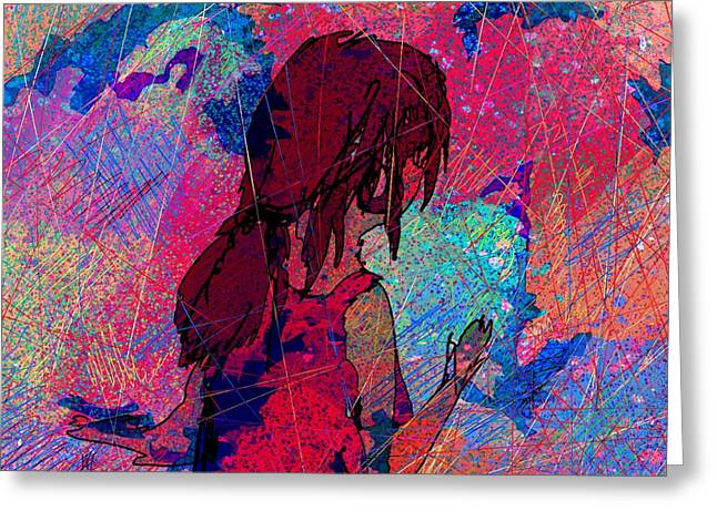 Hallucination Digital Greeting Cards - Feeling the colors Greeting Card by Rachel Christine Nowicki