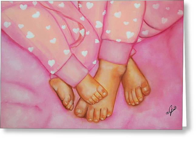 Child Greeting Cards - Feet Fete Greeting Card by Joni McPherson
