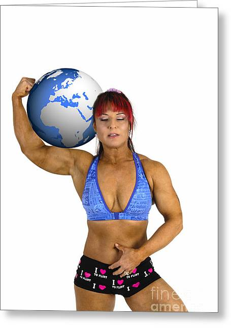 Physical Body Photographs Greeting Cards - Female Atlas Greeting Card by Ilan Rosen