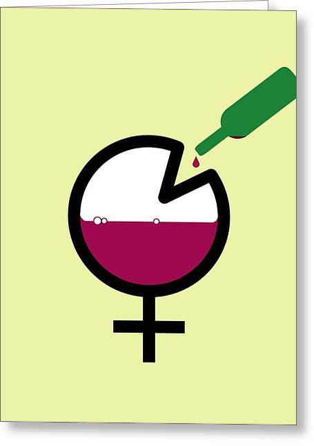 Sociology Photographs Greeting Cards - Female Binge Drinking, Conceptual Image Greeting Card by Stephen Wood