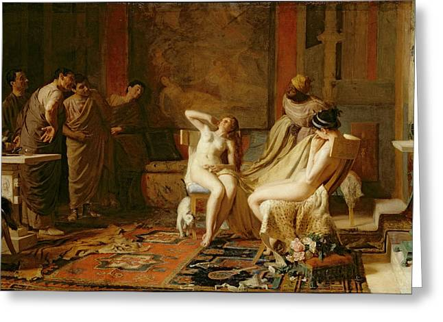 Female Slaves Presented to Octavian Greeting Card by Remy Cogghe