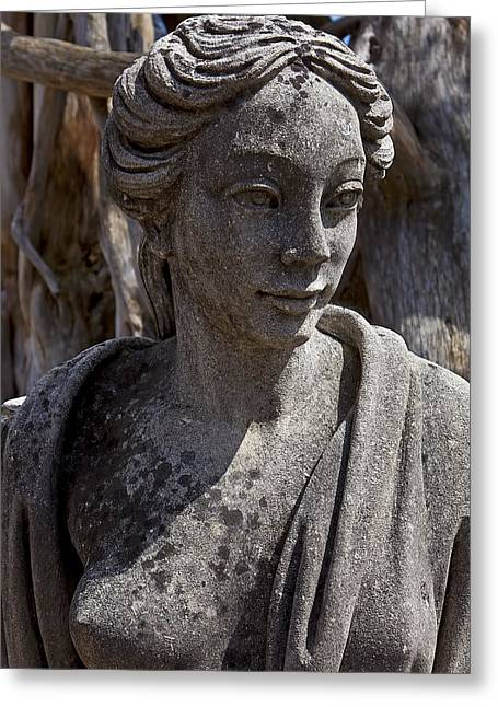 Statue Portrait Greeting Cards - Female statue Greeting Card by Garry Gay