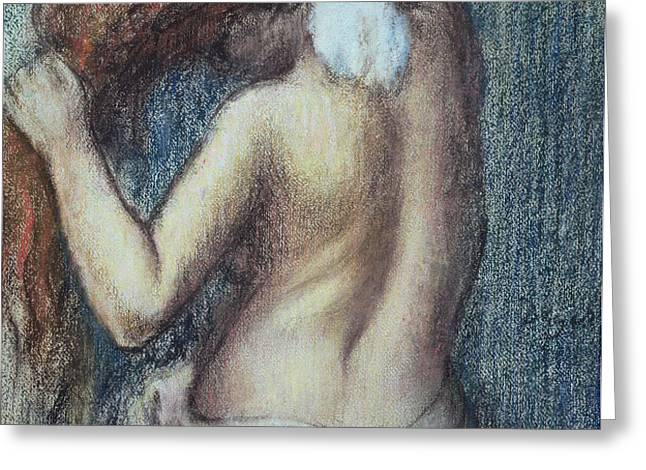 Femme a sa Toilette Greeting Card by Edgar Degas